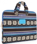 Dachee Blue Bohemian laptop sleeve bag for 10 inch/11 inch/12 inch/13 inch/14 inch/15 inch laptop